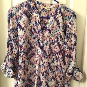 Aztec Longsleeve Blouse -Pink Rose from Nordstrom